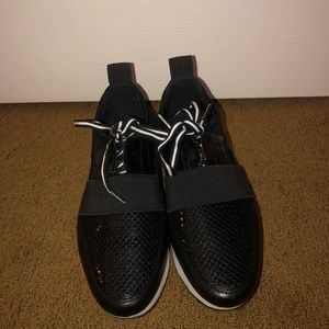 Black and white dressy sneakers
